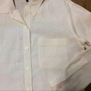 3f7d27c148 Ellen Tracy Tops - Ellen Tracy White Linen Dress Shirt
